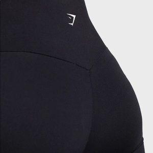 Gymshark black cropped training leggings